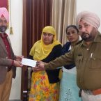 Civil Defence officer Rachpal Singh Dhuri attends program and hands over grants to jawan's family who has lost their lives during duty