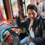 Woman shatters gender baises  becomes Jammu's first female bus driver