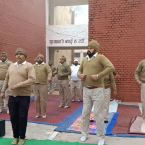 SSP Harmanbir Singh Gill initiates yoga and fitness for police personnel in Moga