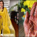 Dia Mirza all set to tie knot, shares her mehendi picture