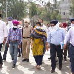 SDM inspects proposed under bridge at Buda Gujjar Road